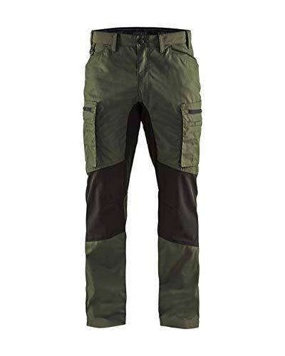 Service werkbroek Stretch, C52, Army Green/Black