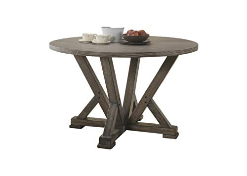 Best Master Furniture 47 in. Round Dining Table Grey
