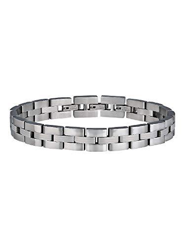 Breil Gioiello Collezione Manta 1970 Jewels, Bracciale da Uomo in Acciaio Colore Silver Misura 20CM - TJ2861
