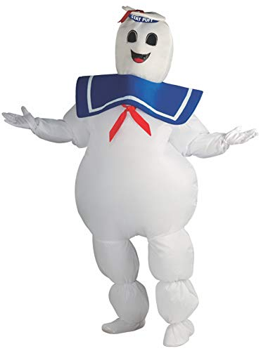 Rubie's Adult Ghostbusters Inflatable Stay Puft Marshmallow Man Costume, White, Standard