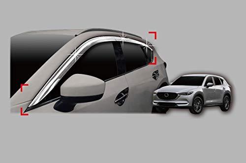 Autoclover Chrom-Windabweiser-Set für Mazda CX-5 ab 2018+, 6-teilig