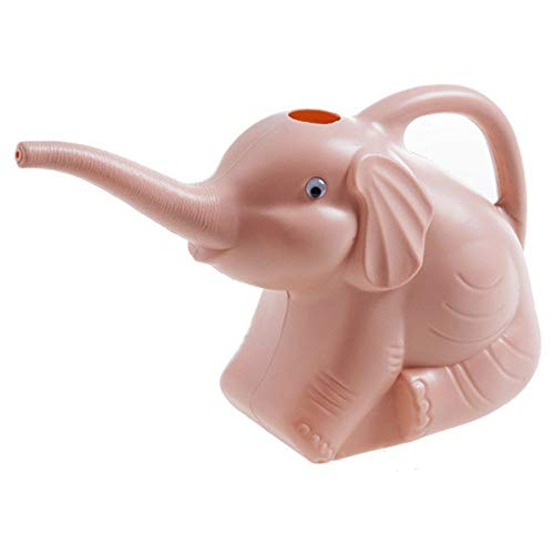 XWU Elephant Watering Can, Cartoon Elephant Spray Watering Can, Watering Kettle Watering Can Garden Accessories Sprayer Multi-Function Watering Can,Pink