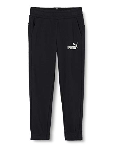 PUMA Jungen ESS Logo Sweat Pants TR cl B Hose, Cotton Black, 152