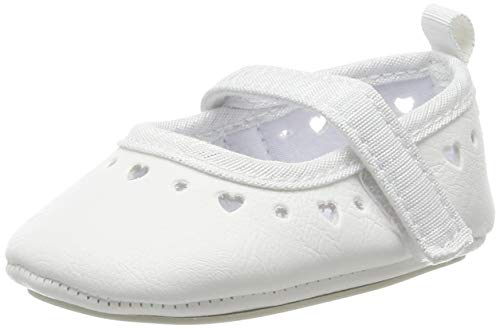 Sterntaler Baby Mädchen Krabbelschuhe, Alter: 6-12 Monate, Weiß (weiß 500), 17/18 EU