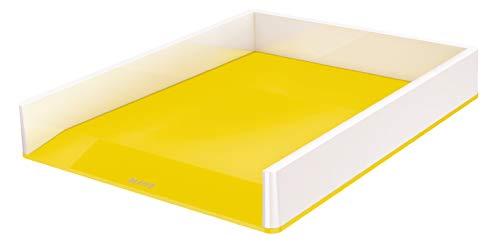 Leitz WOW Briefkorb, perlweiß /gelb, 53611016