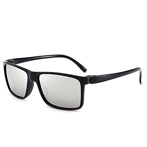 Gafas de sol polarizadas Hombre Conductor Tinta Espejo Caja Europea y Americana Retro Gafas, Caja negra brillante,