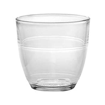 Duralex Made In France Gigogne Glass Tumbler Drinking Glasses, 5.63 ounce - Set of 6, Clear