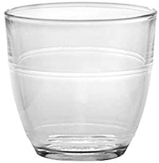 Duralex 1016AB06 Made In France Gigogne Glass Tumbler Drinking Glasses, 5.63 ounce - Set of 6, Clear