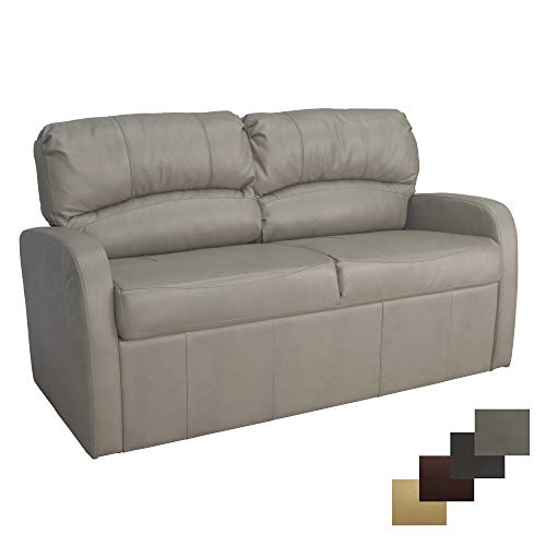 RecPro Charles Collection | 70' RV Jack Knife Sofa w/Arms | RV Sleeper Sofa | RV Couch | RV Living Room (Slideout) Furniture | RV Furniture | Camper Furniture | Putty