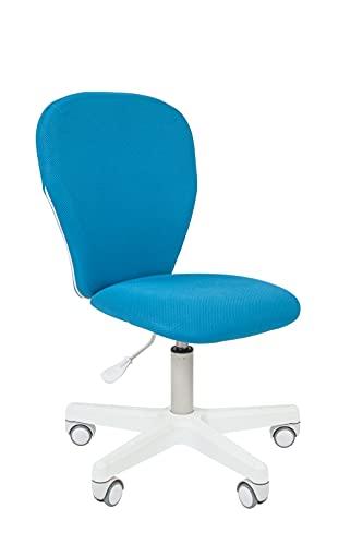 CHAIRJet Silla de escritorio infantil con ruedas, altura regulable, 60 kg, reposabrazos, silla giratoria juvenil con...