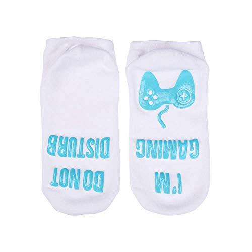 1 par de calcetines de Navidad con diseño de letras divertidas y estilo Harajuku, L, L