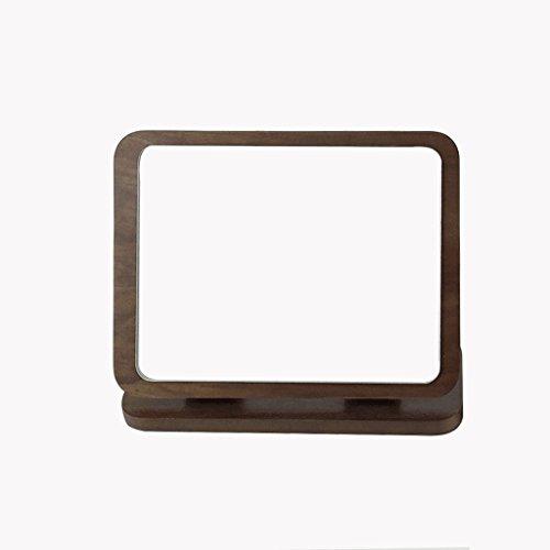 Pliage Maquillage Miroir Bois HD Grand Ronde Simple-face Miroir De Maquillage De Table De Bureau Beauté Vanité Miroir Pliable Bois Art De Table Miroir De Maquillage Xuan - worth having
