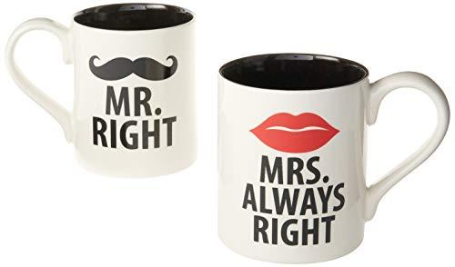 Our Name is Mud - Set di 2 Tazze Mr And Mrs Right Mug (Il sig. e la sig.ra Ho-Sempre-Ragione) [Lingua Inglese]