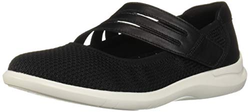 Aravon Women's PC Maryjane Shoe, Black Knit, 10.5 2A US