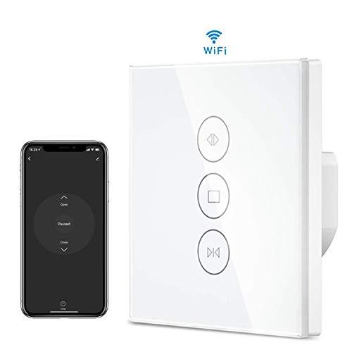 Interruptor Persiana WiFi, MuZhuo WiFi Smart Timer del temporizador del interruptor de balanceo Compatible con Alexa Echo/Google Home Interruptor del obturador aplicable Motor