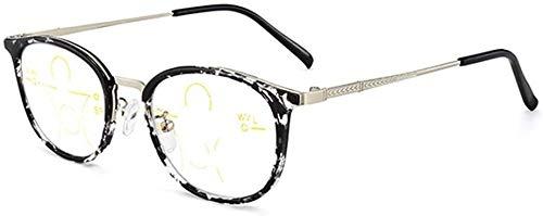 Lunettes de lecture Multifocale progressive Bleu filtrage lunettes de lecture, Cadre en alliage et près double Far-portent des lunettes, Anti-bleu téléphone lumière UV Femmes Lunettes, des lunettes