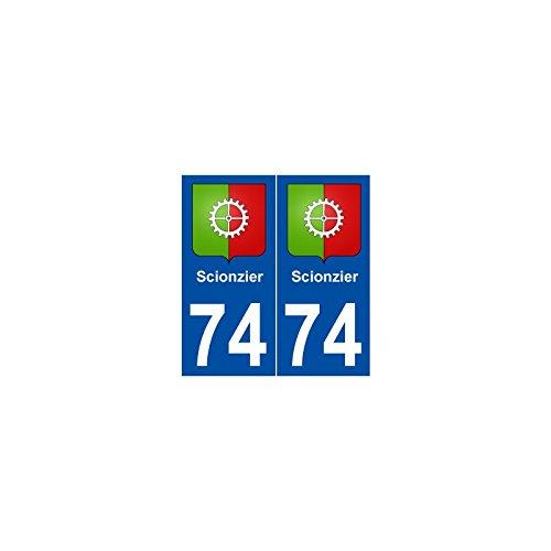 74 Scionzier blason autocollant plaque stickers ville - droits