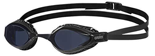arena Airspeed Anti-Fog Wettkampf Schwimmbrille Unisex für Erwachsene, Schwimmbrille mit breiten Gläsern, UV-Schutz, 3 austauschbare Nasenstege, Air-Seals Dichtungen