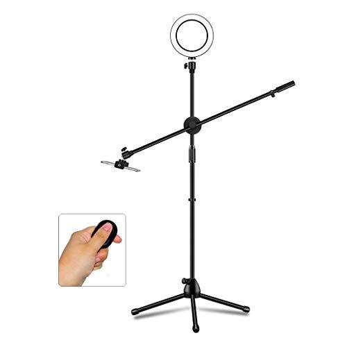 DGHJK Selfie Ring Light con trípode, Live/Makeup/Youtube Video/Photography Stand Control Remoto Bluetooth y Bolsa de Almacenamiento (Tamaño: A)