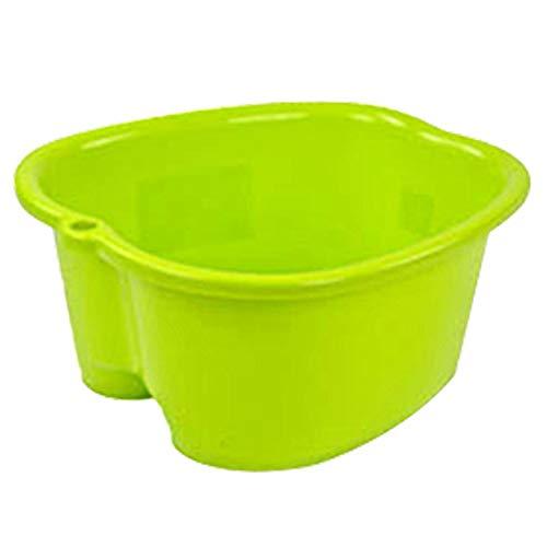 Hvoz Fußbad Spa-Schüssel Fußpflege Bad SPA Kunststoff Wanne Fuß Einweichen Becken Pediküre Detox Massage Füße grün