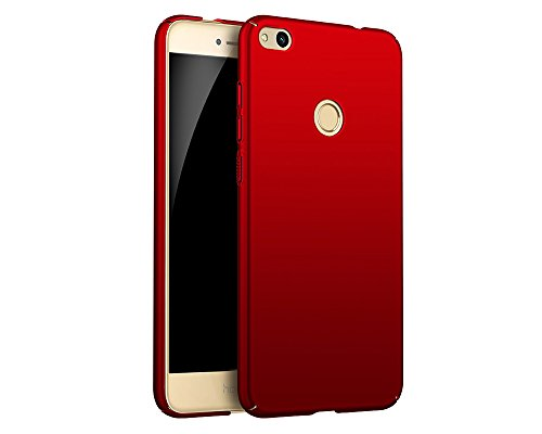 EIISSION Case Kompatibel mit Huawei P8 Lite (2017) Hülle, Hardcase Ultra Dünn Huawei P8 Lite (2017) Schutzhülle aus Hart-PC Case Cover Handyhülle für Huawei P8 Lite (2017) (Rot)
