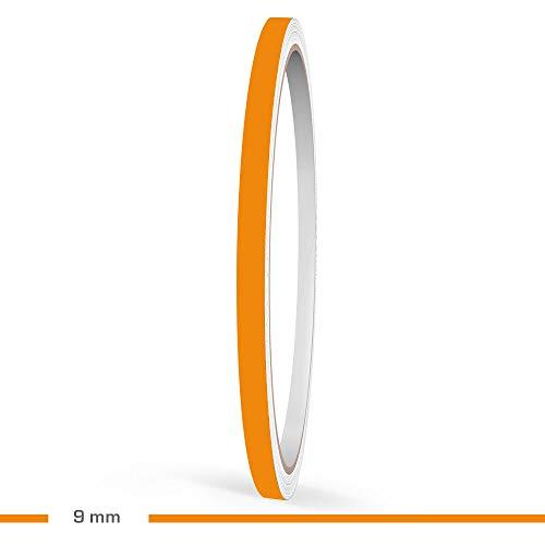 Motoking Zierstreifen, Orange Matt, 9 mm Breite, 10 m Länge, RAL 2008, Aufkleber Folie Auto Boot Motorrad Wohnmobil Wohnwagen & mehr