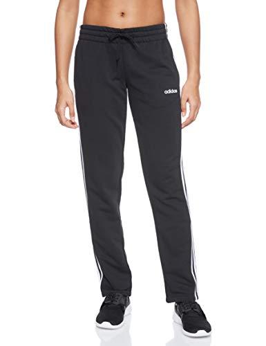 adidas Damen Essentials 3-Streifen Open Hem Trainingshose, Black/White, XL