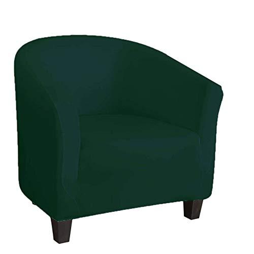 ZHFEL Sesselschoner Sesselbezug Stretch,1-Stück Sessel-Überwürfe Einfarbig Weich Abnehmbare waschbar Möbel Beschützer Sesselüberwurf für Loungesessel Cocktailsessel Clubsessel Cafe Stuhl-Grün