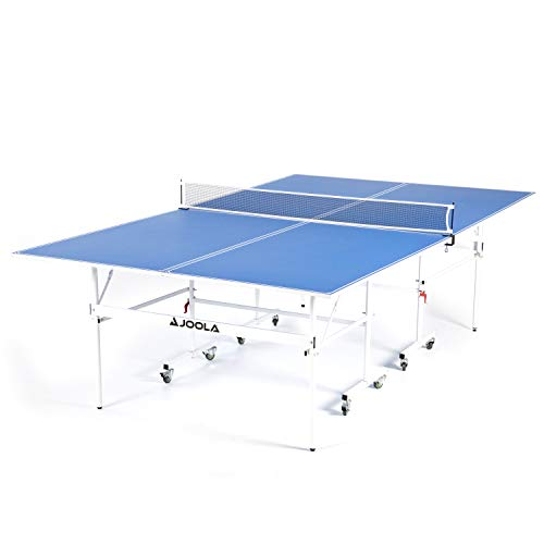 JOOLA Indoor 15mm Ping Pong Table with Quick Clamp Ping Pong Net Set - Single Player Playback Mode - Regulation Size Table Tennis Table - Compact Storage Ping Pong Table