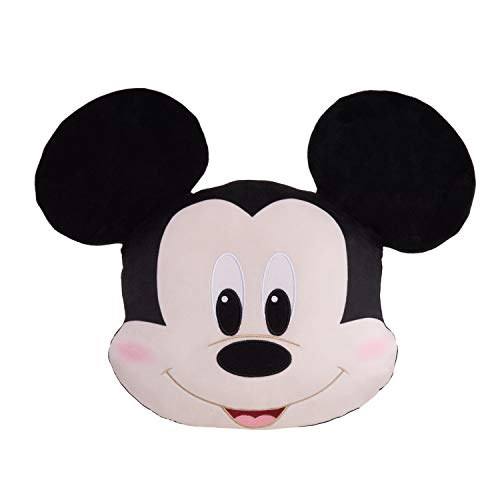 Disney Classics Character Heads, Mickey Mouse, 13-Inch Plush, Soft Pillow Buddy Toy for Kids