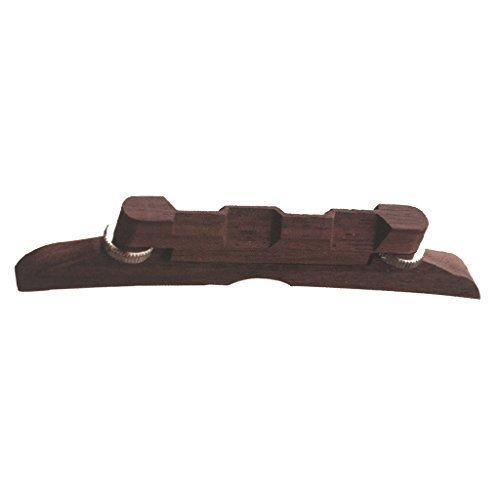 Greenten 4.49' Adjustable Compensated Mandolin Strings Bridge Rosewood for Archtop Mandolins