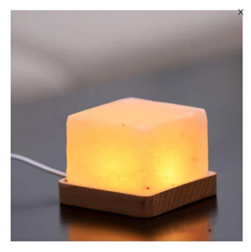 Zoutsteen, cadeau, zout licht, nachtlampje, USB, voor huis, sfeer, tafellamp, USB-oplaadmodule, warmwit.