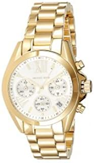 Michael Kors Women's White Dial Stainless Steel Band Watch - MK6267