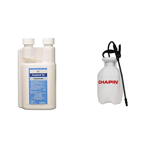 Bayer - 4031982 - Suspend SC -Insecticide - 16oz & Chapin 20541, 1 Gallon Lawn, Garden and Multi-Purpose Sprayer with Foaming and Adjustable Nozzles, Translucent White