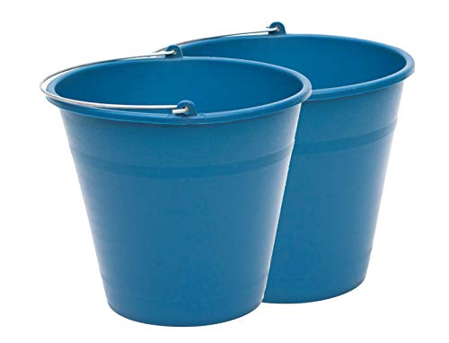 PACK de 2 cubos engomados de plástico reciclado (Azul) (8