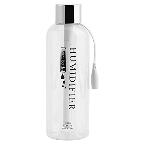 Humidificador Ultrasónico 300 ml Mini Botella Fresco Humidificador de Niebla USB Ultrasónico Humidificador Purificador de Aire para el Coche de Viaje Oficina de Escritorio dormitorio(Silver)