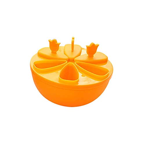 Da.Wa 1PCS Summer Essential Ice Lolly Popsicle Box Non-toxic Environmentally Friendly Homemade Ice Lolly Mold Round Orang 13.5x6CM