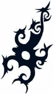 Large Tribal Borneo Scorpion Temporary Tattoo / Set of 3