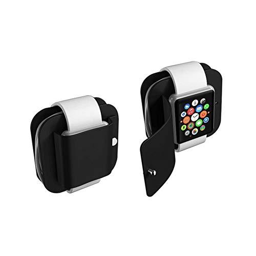 Soporte del cargador Estación de acoplamiento de carga protectora Monedero de carga portátil Compatible para Apple Watch Serie 1/2 Soporte de carga de silicona suave Soporte Almacenamiento Estuche de