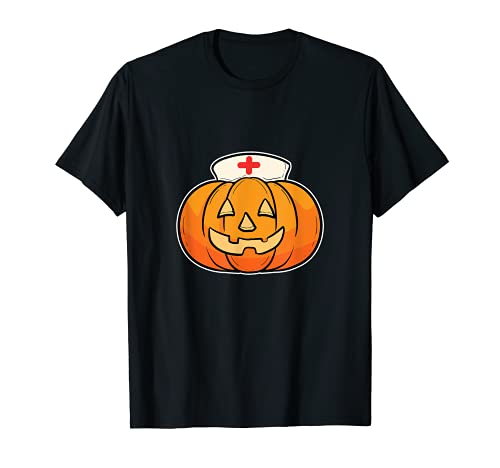 Hospital Enfermera Calabaza Halloween 2021 Doctor Trick O Treat Camiseta