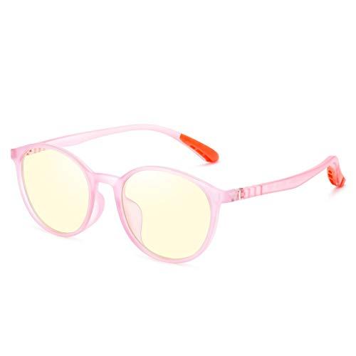 Elektronische beeldschermbril kinderen Blu-ray blokrate 35% computerveiligheidsbril voorkomt myopie ontlast vermoeidheid van de ogen voor kinderen 5 ~ 14 jaar oud. A-roze