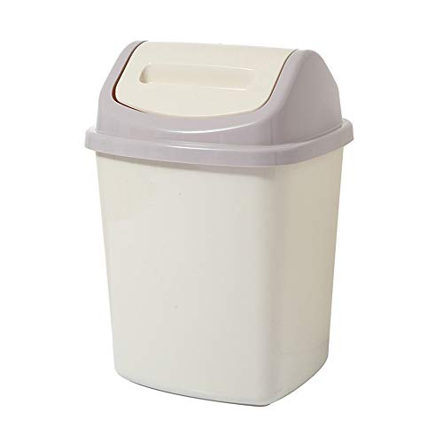 Bote de basura del hogar de materiales plásticos mecedora Tipo bote de basura del barril escombros...