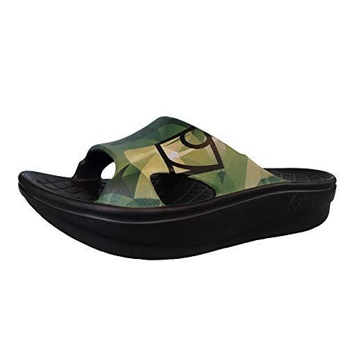 【rig Recovery Footwear】 リグ・リカバリーサンダル(疲れた足を解放する!日本発のリカバリーサンダル) SLIDE スライド 2020Limited Edition polygonal/ポリゴナル RG0006PG (XL(27cm〜28cm))