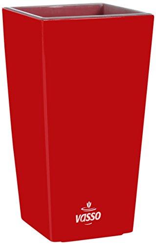 Vasso Kalika Vina Smart Pot Rouge 9,5 x 9,5 x 18,5 cm