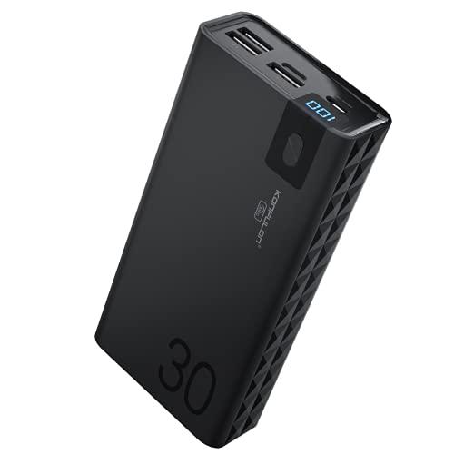 Power Bank 30000mah Portable Charger KONFULON Portable Battery Pack LCD Display...