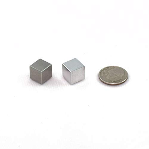 Tungsten & Aluminum Cube Set - 1cm, Smallest Size