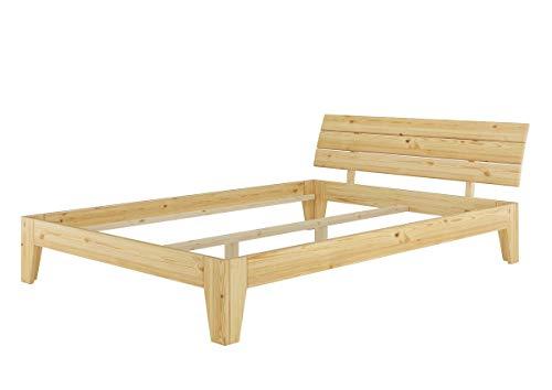 Erst-Holz® Futonbett Kiefer-Bettgestell massiv 140x220 Überlänge Doppelbett ohne Zubehör 60.62-14-220 oR