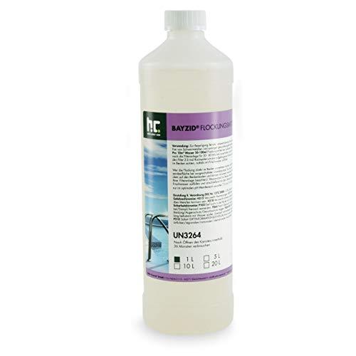 Höfer Chemie 6 x 1 L Pool Flockungsmittel flüssig BAYZID kristallklares Poolwasser - einfache Anwendung + hocheffektive Wirkung gegen Trübungen