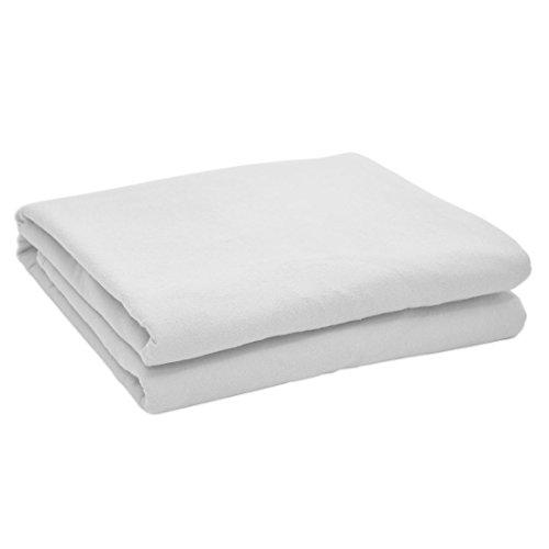 Nurtextil24 Flanell Bettlaken in 12 Farben und 4 Größen Bettüberwurf aus 100prozent Baumwolle Weiß 210 x 240 cm