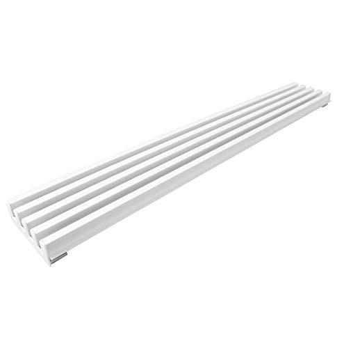 Rejilla de aireación de altura 85 mm (600, Blanco brillo)